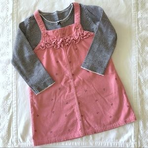 Carter's Two Piece Corduroy Dress with Hearts